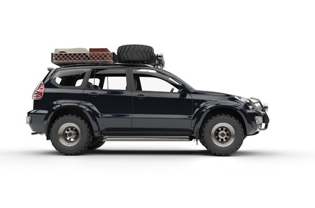Big Modern 4WD SUV Reklamní fotografie