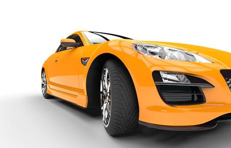 Super Yellow Car Closeup Stockfoto