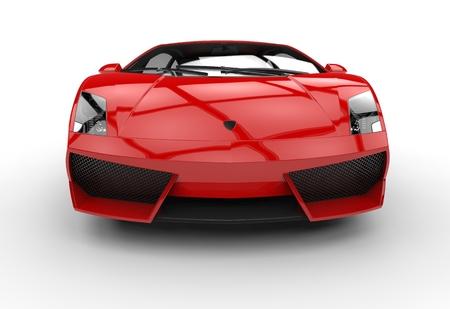 赤いスーパーカー フロント ビュー