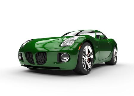 緑の筋肉車美容ショット 写真素材