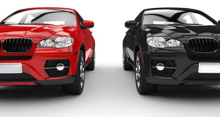 Rojo Y Negro SUV Foto de archivo - 44752203