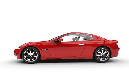赤の高速車の側面