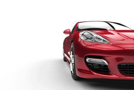 Crimson Red Car Front View Cut