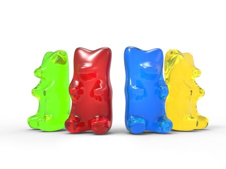 gummie: Colorful Gummy Bears Stock Photo