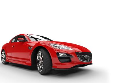 素晴らしい赤い車 写真素材