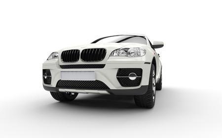 ホワイト パワー ショット SUV 写真素材 - 44751889