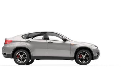 銀 SUV 写真素材 - 44751871
