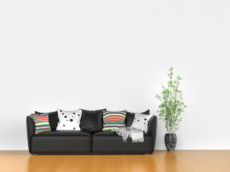 contemporary living room: Simple room with modern sofa