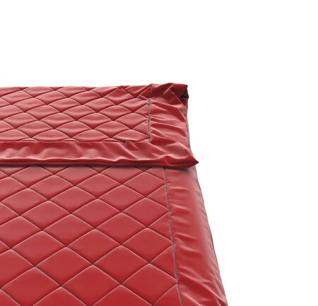 red bed: Red bed cover, isolated on white background.