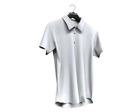 white sleeve: White short sleeve shirt isolated on white background.