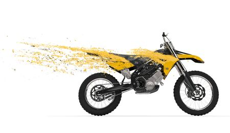 Yellow Dirtbike Streaks