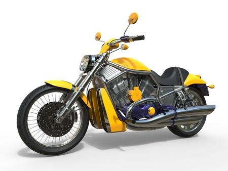 powerful: Powerful Yellow Motorcycle Stock Photo