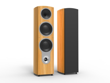 party system: Modern futuristic wood speakers