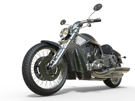 Powerful Vintage Motorcycle - Closeup Archivio Fotografico