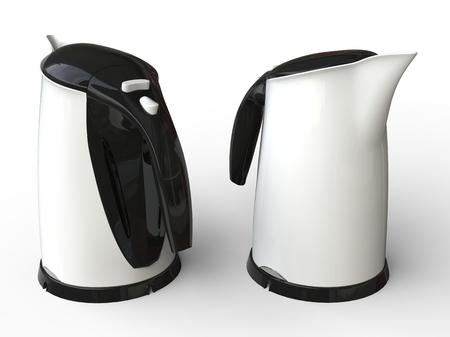 kettles: Dos teteras blancas modernas