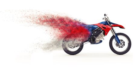 dirt bike: Red Dirt Bike - Particles