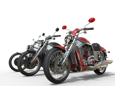 빈티지 오토바이 - 앞에 빨간색