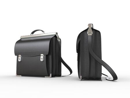 side views: Cool black briefcases - front and side views