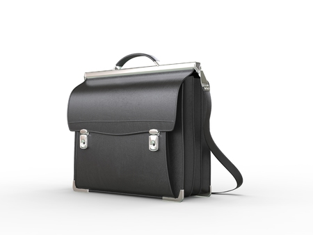 black briefcase: Vintage cool black briefcase