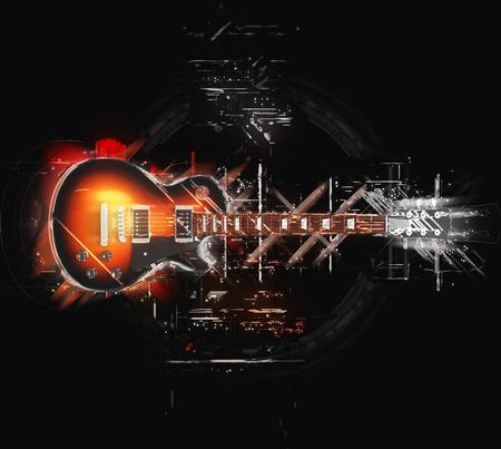 ハードロック ギター - 抽象的なイラスト 写真素材