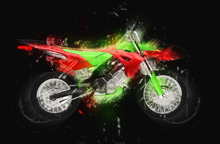 dirt bike: Dirt Bike Glowing