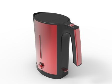 metallic: Red metallic kettle