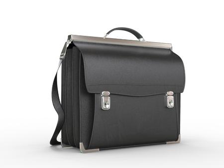 black briefcase: Vintage cool black briefcase - closeup