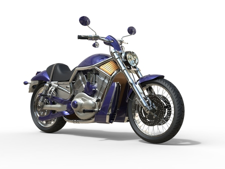 roadster: Purple Roadster Bike Stock Photo
