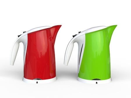 kettles: calderas modernas rojas y verdes