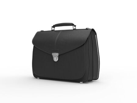 leather briefcase: Classic black leather briefcase