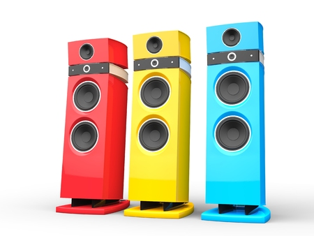 acoustic systems: Hi-tech speakers - base colors
