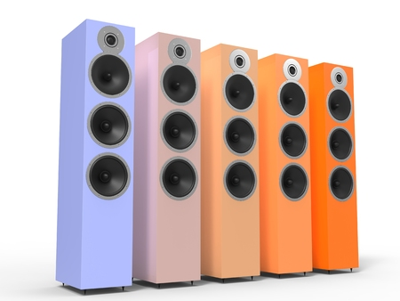 acoustic systems: Warm colored speakers