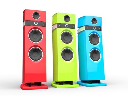 rgb: Hi-tech speakers - RGB variations