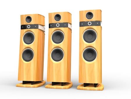 acoustic systems: Hi-tech speakers - wooden