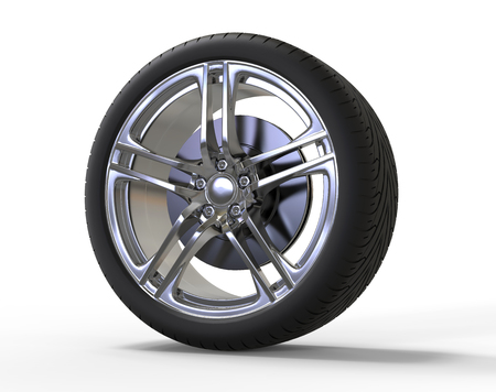 rims: Racing car wheel - big shiny rims