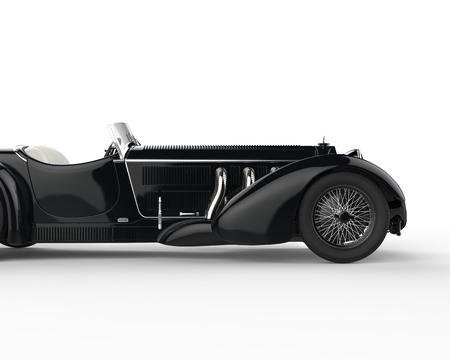 Black vintage car - cut shot
