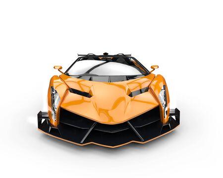 studio lighting: Orange race supercar - studio lighting