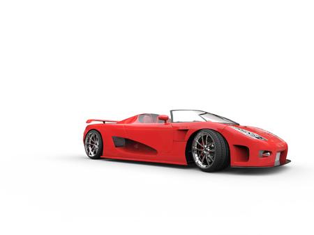 sportscar: Awesome red cabriolet sportscar