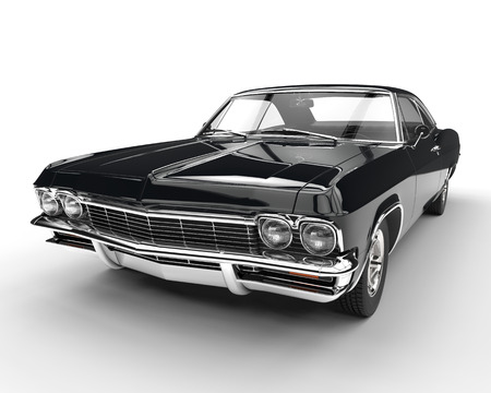 Muscle car - front view closeup Stock Photo