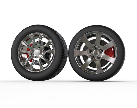 vulcanization: Regular car wheels