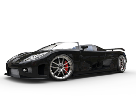 Awesome black sportscar - beauty shot