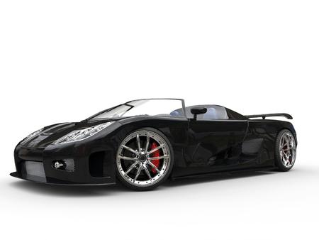 Awesome black sportscar - beauty shot