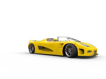 sportscar: Awesome yellow cabriolet sportscar