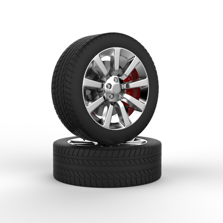 vulcanization: Two race tires Stock Photo