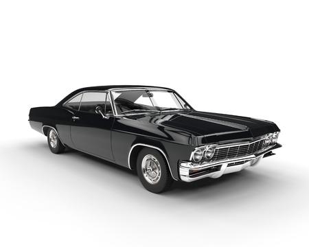 黒古典的な筋肉の車 - スタジオ照明撮影