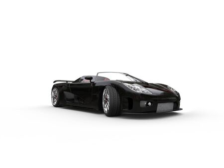 sportscar: Awesome black convertible sportscar