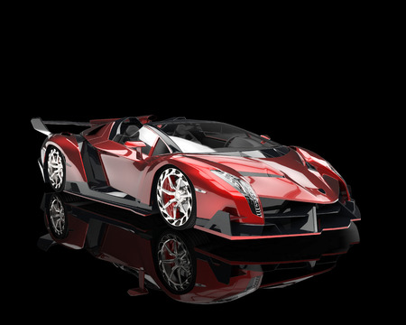 supercar: Supercar - red pearlescent paint
