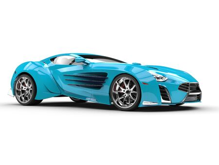 Supercar - bright blue Stock Photo