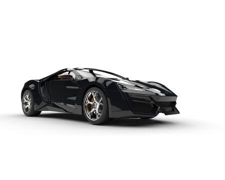 sportscar: Black sportscar - studio lighting