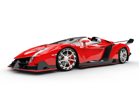 studio lighting: Red race supercar - studio lighting